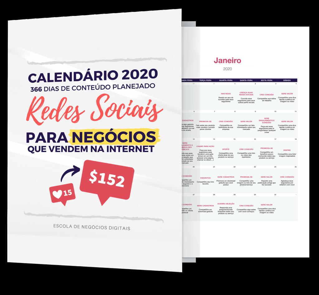CALENDARIO REDES SOCIAIS PARA NEGOCIOS